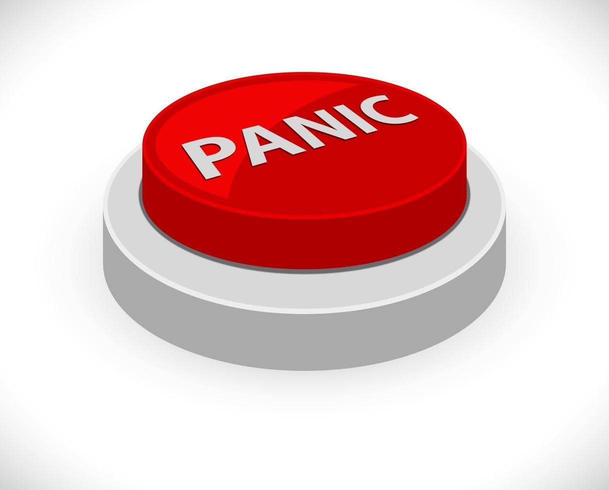 botão vermelho de pânico vetor