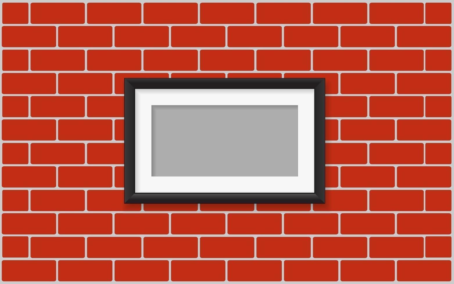moldura na parede vetor