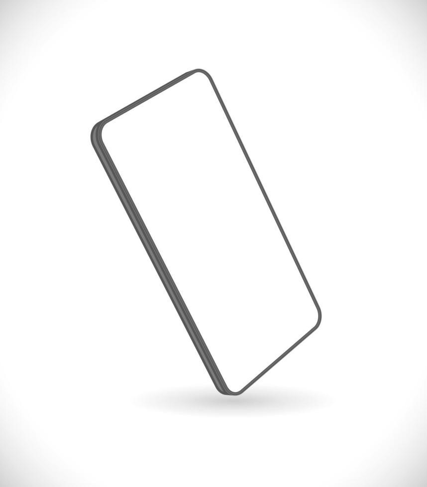 ícone 3d de smartphone vetor