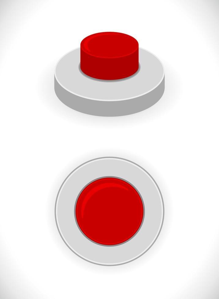 ícone do botão vermelho vetor