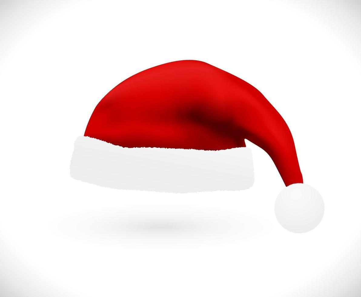 chapéu de papai noel vermelho vetor