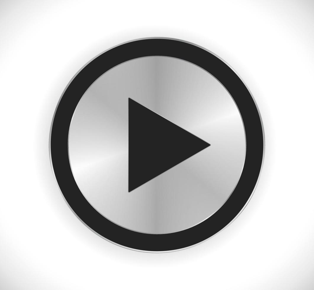 tocar botão de metal vetor