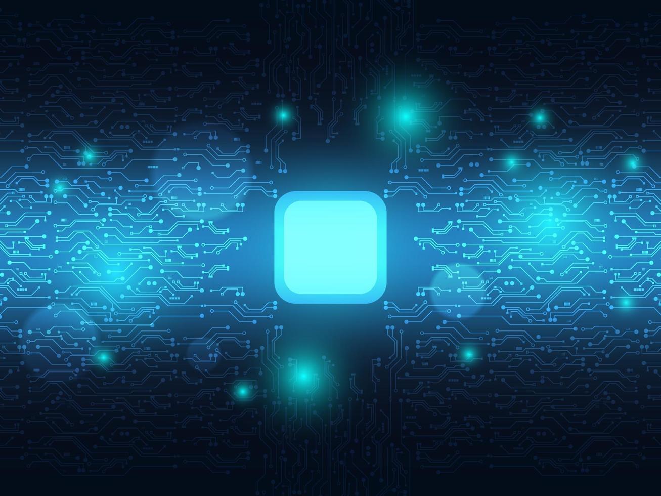 circuito azul abstrato com tecnologia de iluminação futurista vetor