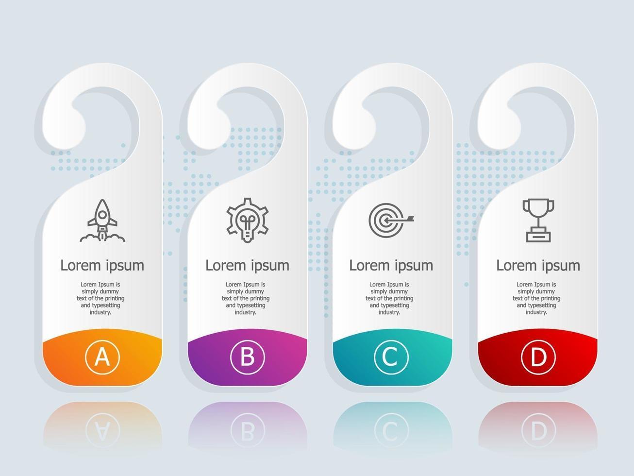 infográficos abstratos de rótulo horizontal com ícones de negócios vetor