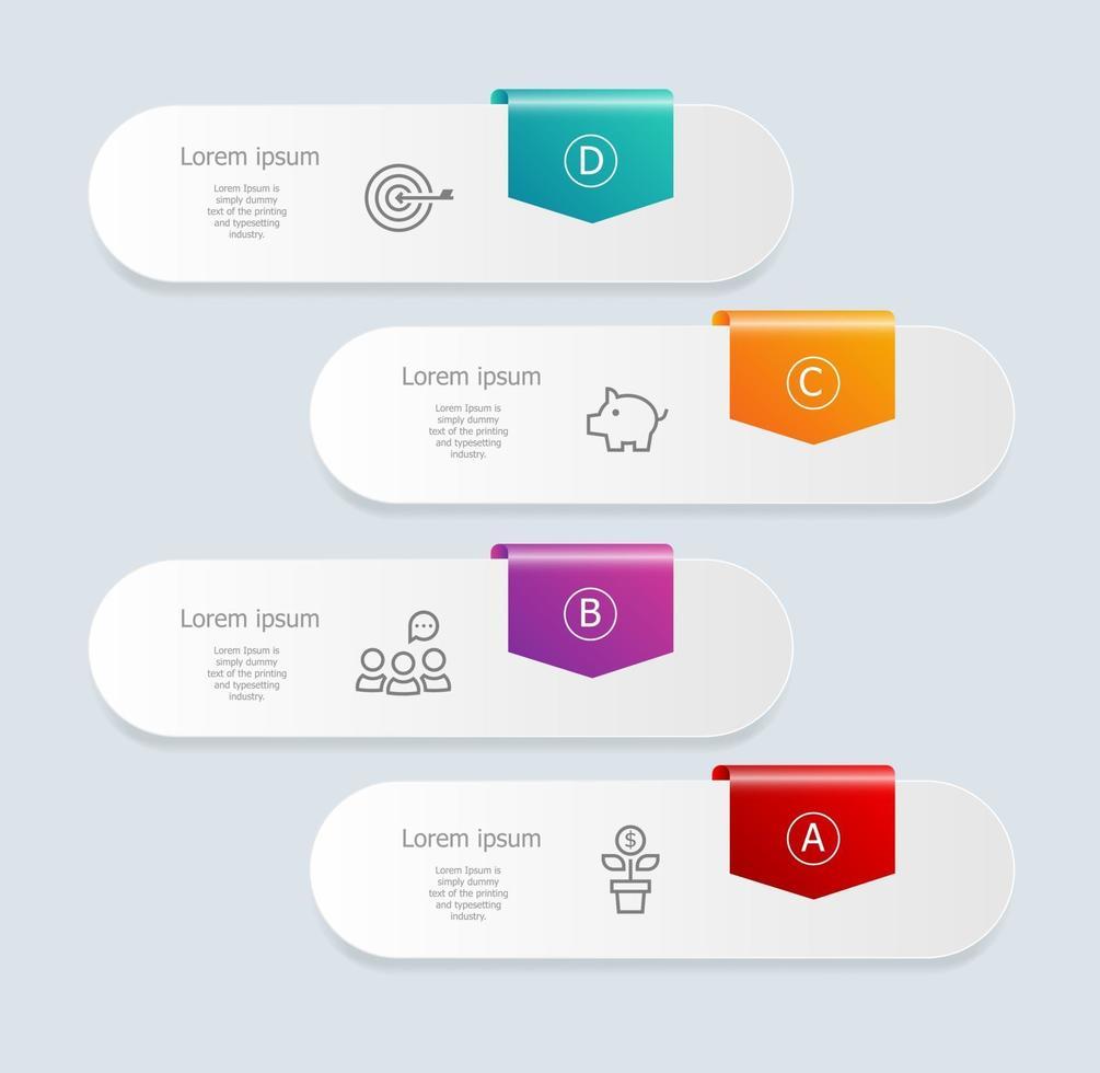 infográficos abstratos de banner vertical com ícones de negócios vetor