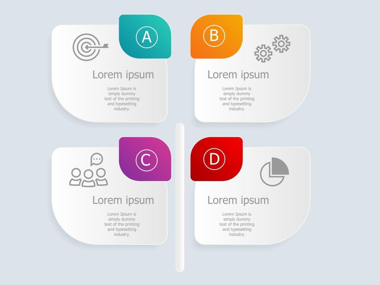 vertical abstrato deixa infográficos com ícones de negócios vetor