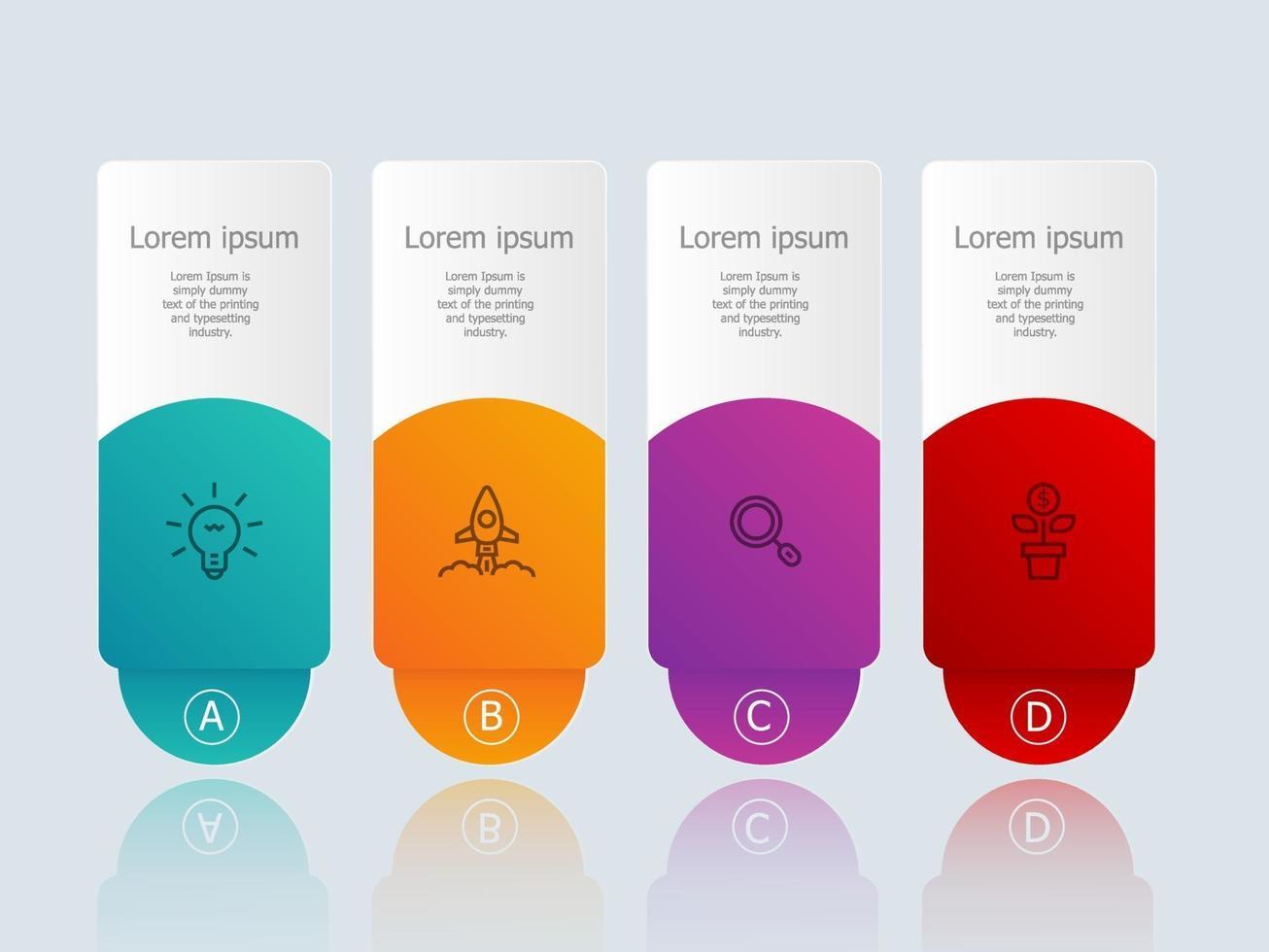 infográficos abstratos de banner horizontal com ícones de negócios vetor