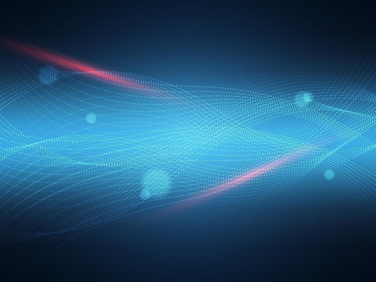 iluminação de partículas abstratas, fundo de tecnologia vetor