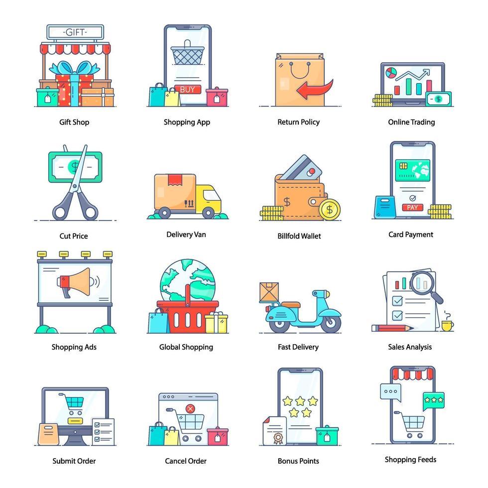e-commerce e entrega vetor