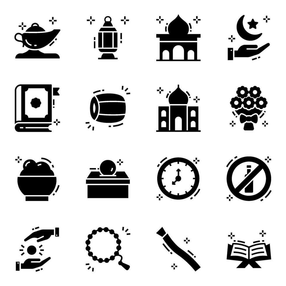 Ramadã, o mês sagrado de adoração vetor