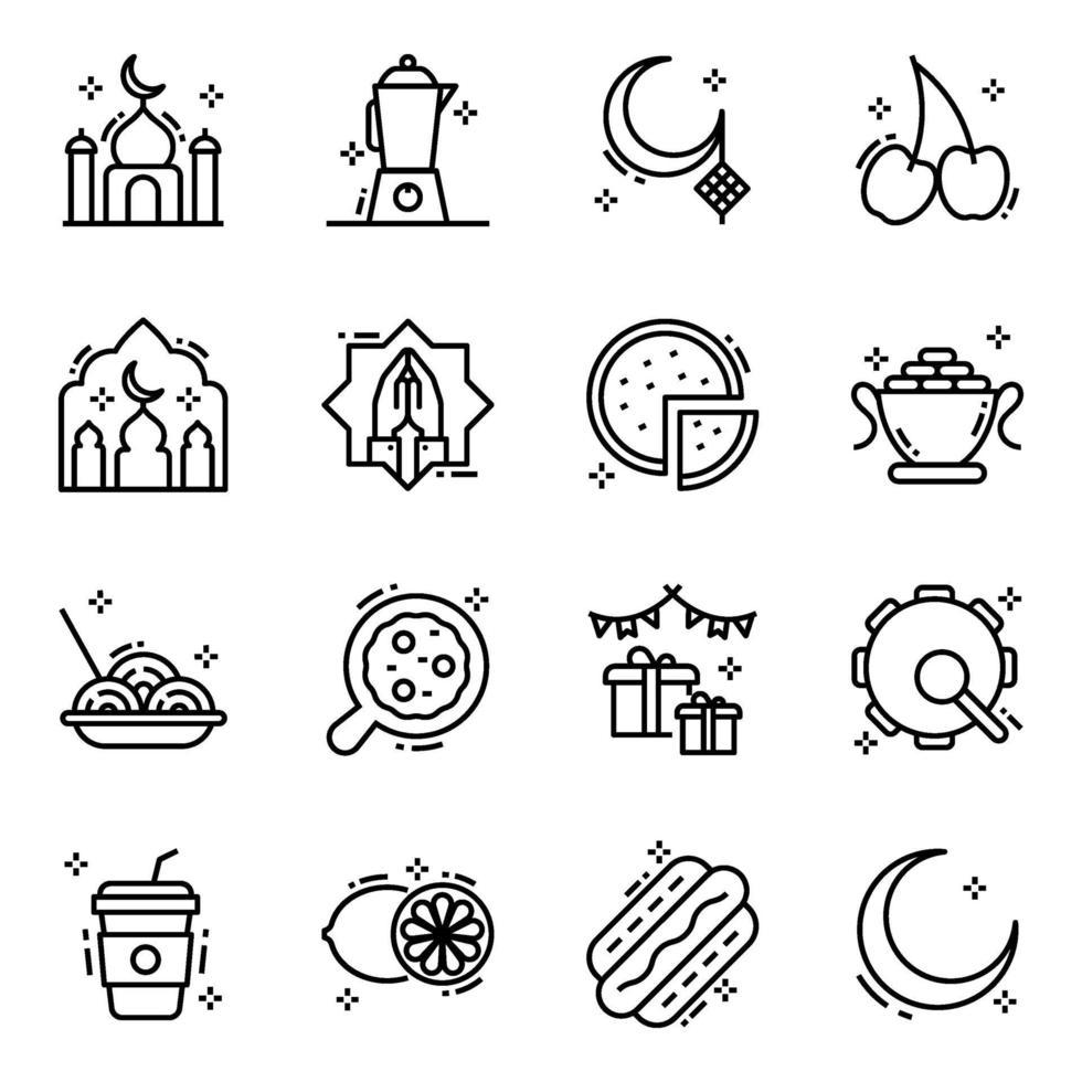 iftar e jejum vetor