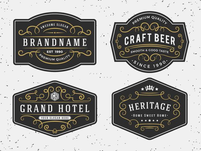 Florescer design de moldura de caligrafia para rótulos, banner, logotipo, embl vetor
