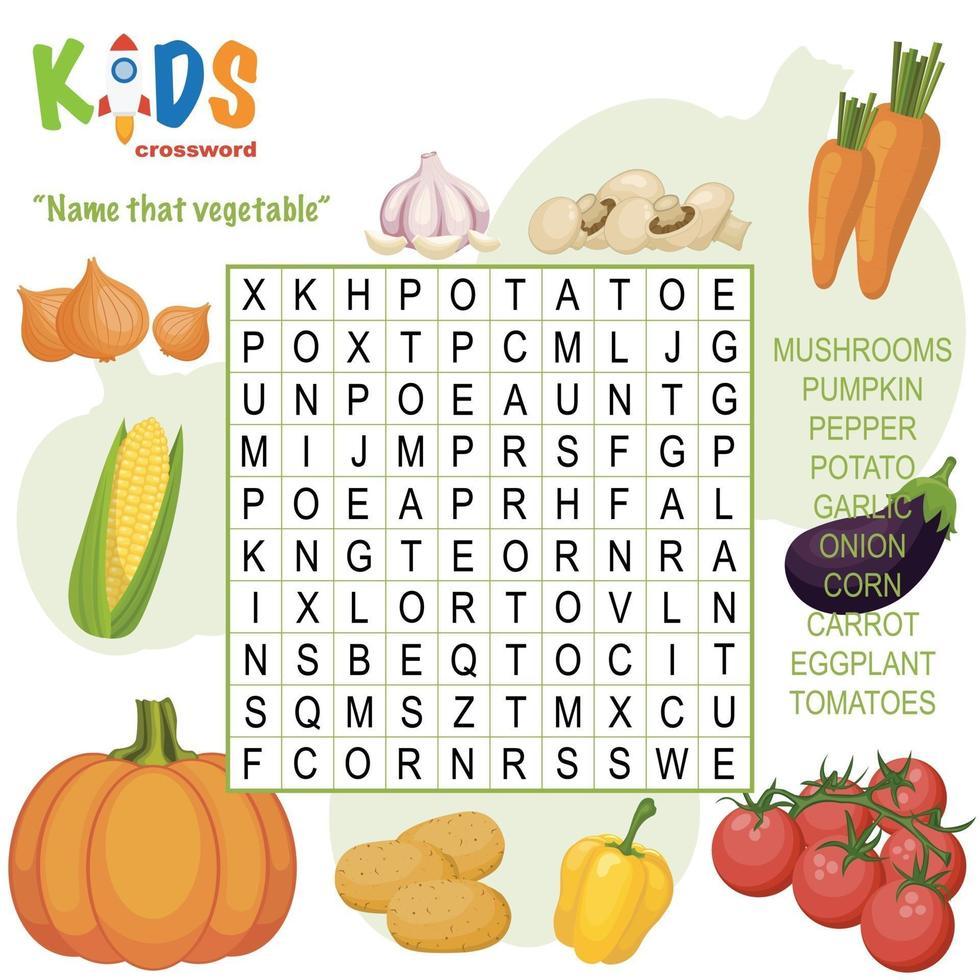 nomeie aquela palavra vegetal busca palavras cruzadas vetor