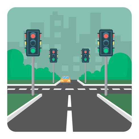 Interseção da estrada vetor
