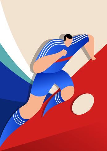 Jogadores de futebol da Copa do Mundo da França vetor