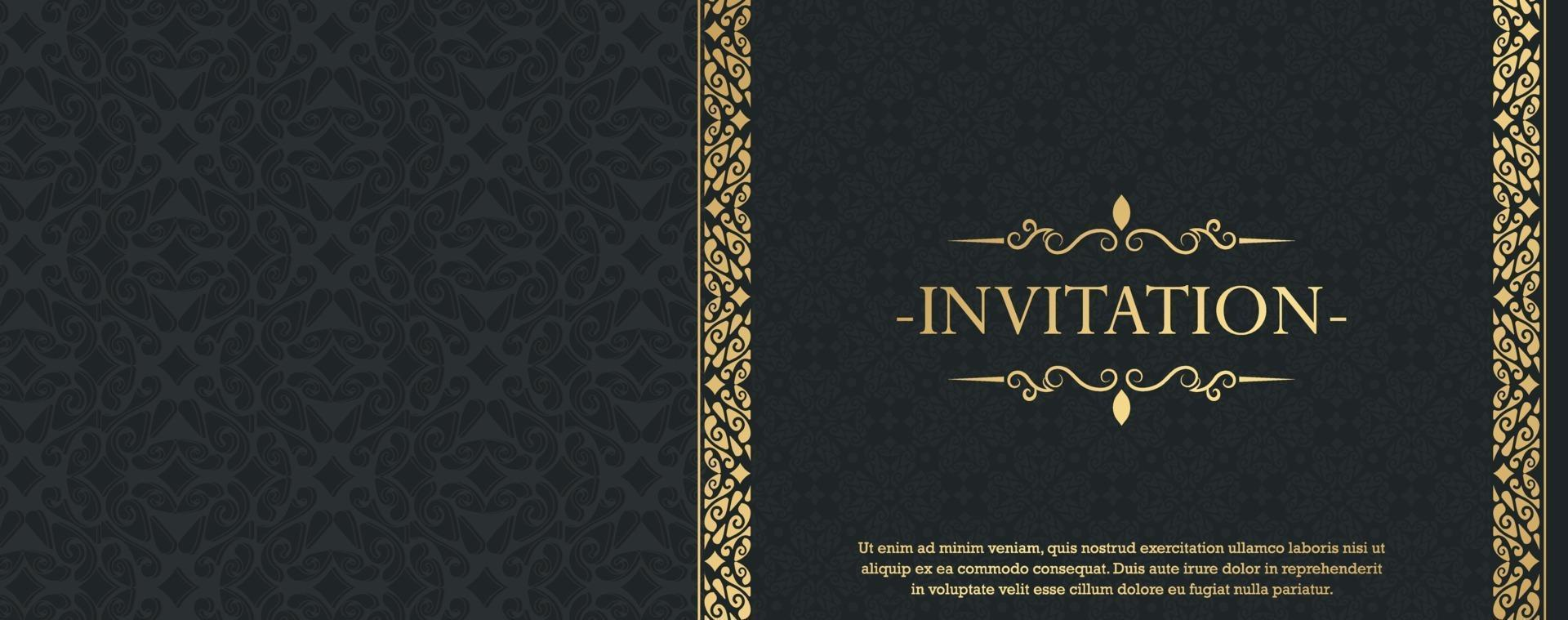 convite de luxo estilo de fundo padrão ornamental vetor