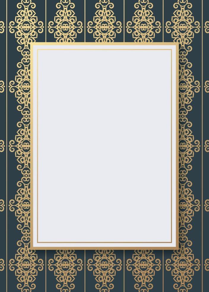 design de texto de folheto de padrão geométrico luxuoso vetor