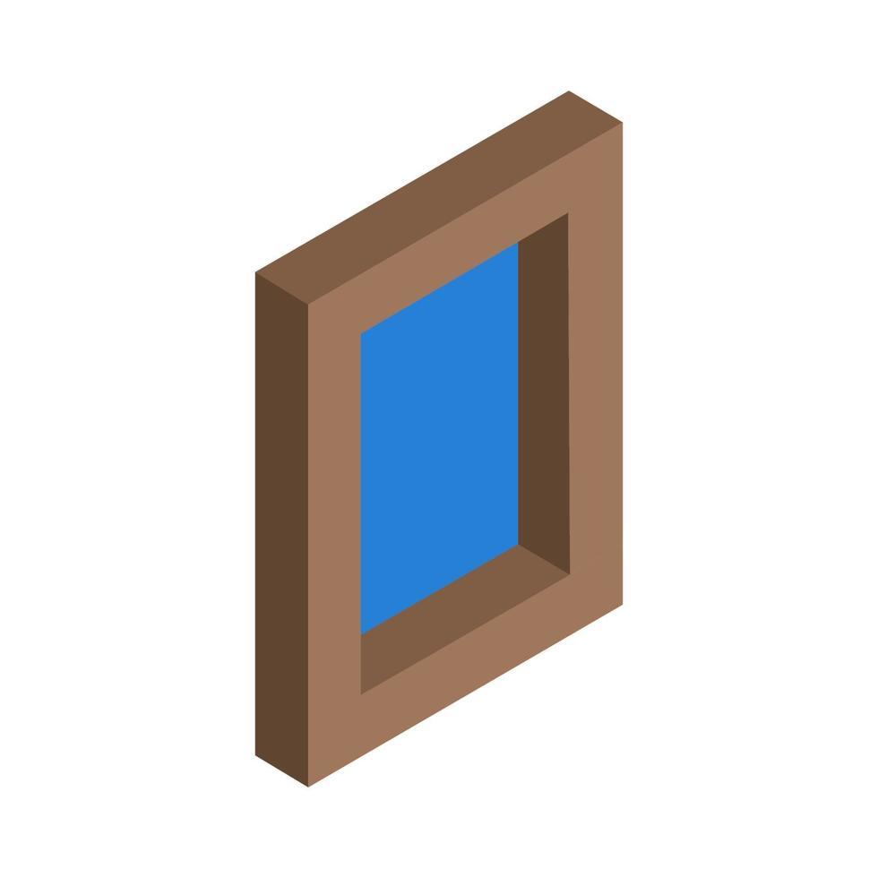 janela isométrica em fundo branco vetor