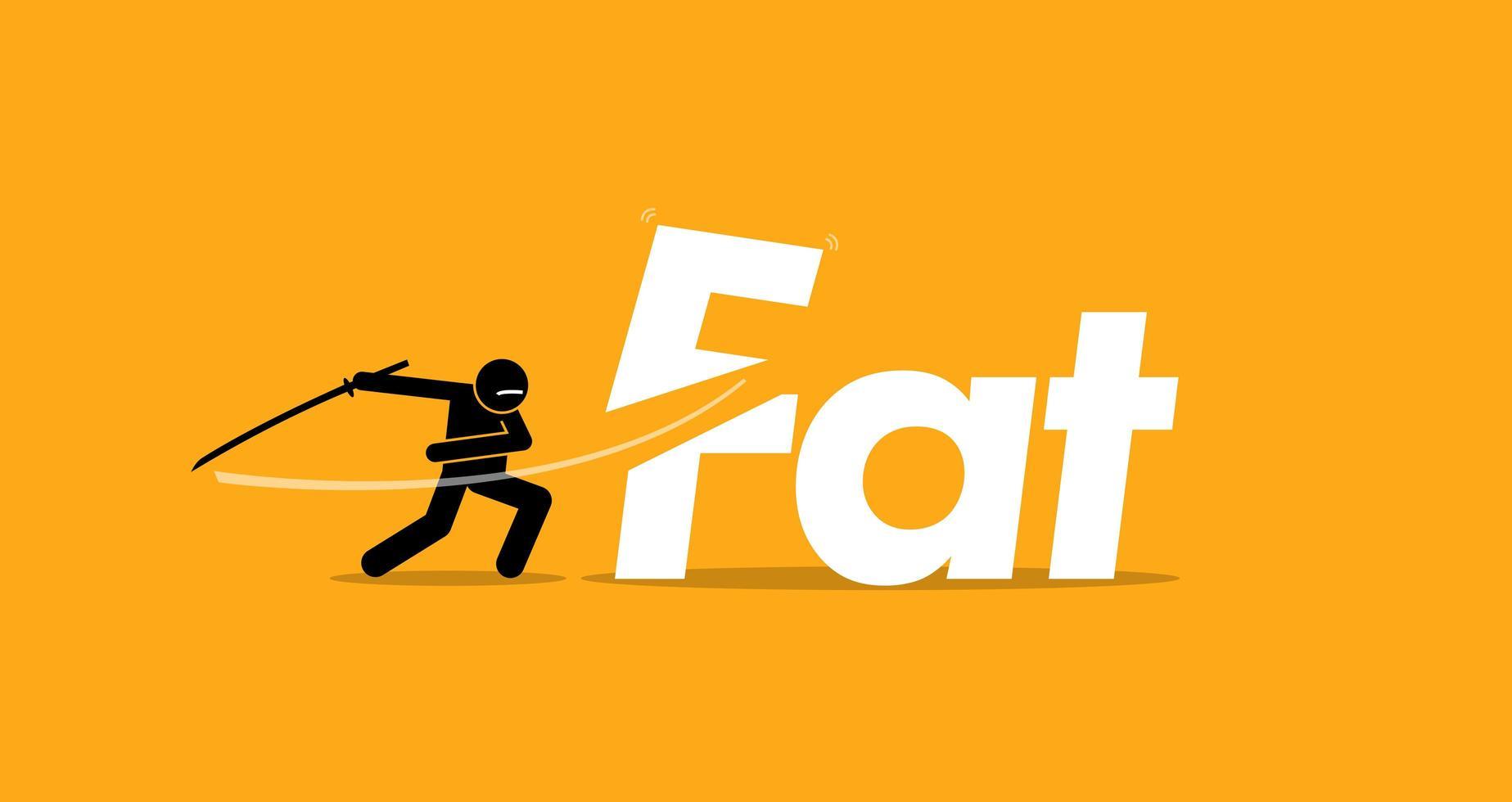 corte de alimentos gordurosos não saudáveis para uma dieta saudável. vetor