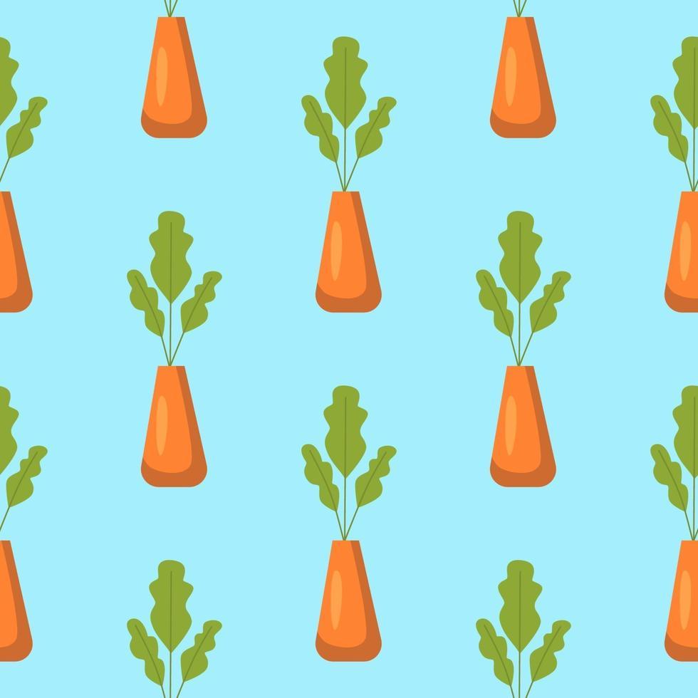 padrão sem emenda com vasos de plantas vetor