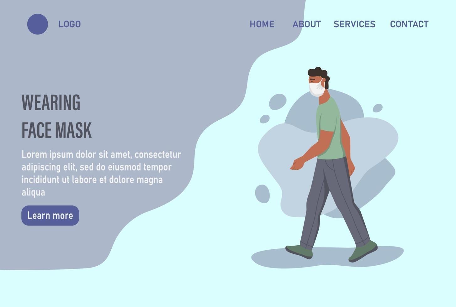 modelo de página da web de destino da página inicial do site. vetor