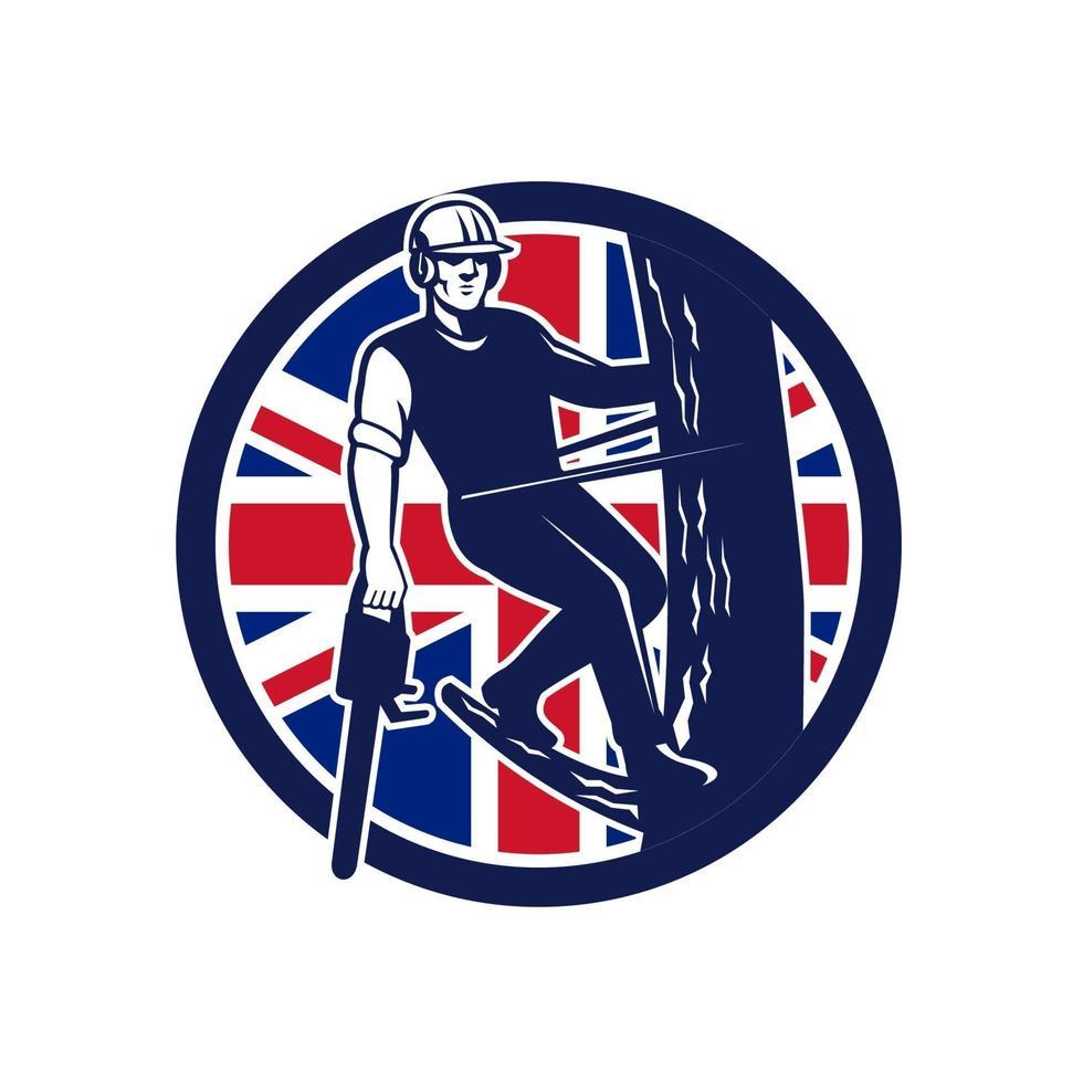 arborista cirurgião-árvore bandeira britânica vetor