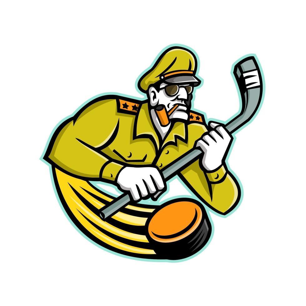 mascote geral do hóquei no gelo do exército vetor