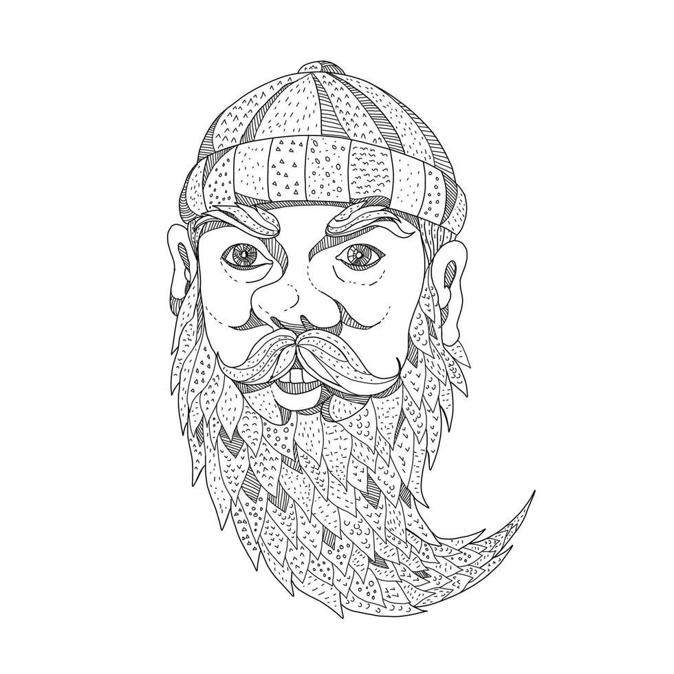 arte do doodle do lenhador paul Bunyan vetor