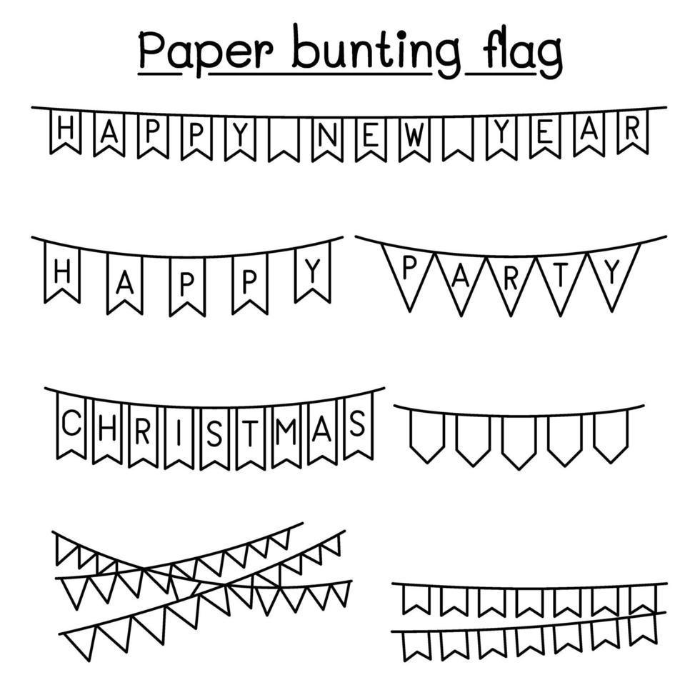 design gráfico de ilustração vetorial de bandeira de papelão vetor