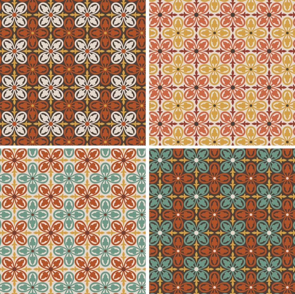 padrões decorativos geométricos sem emenda da telha do vetor. vetor