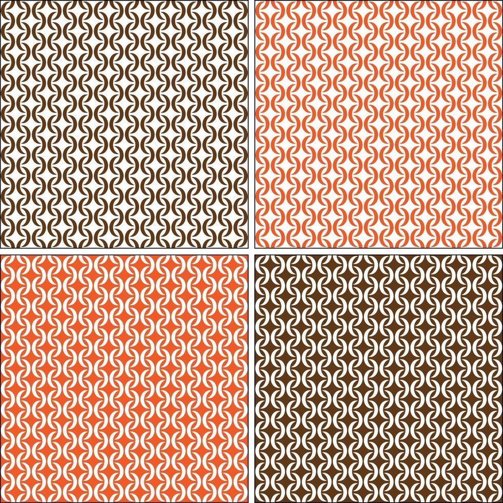 mod sem costura padrões geométricos vetoriais branco laranja marrom vetor