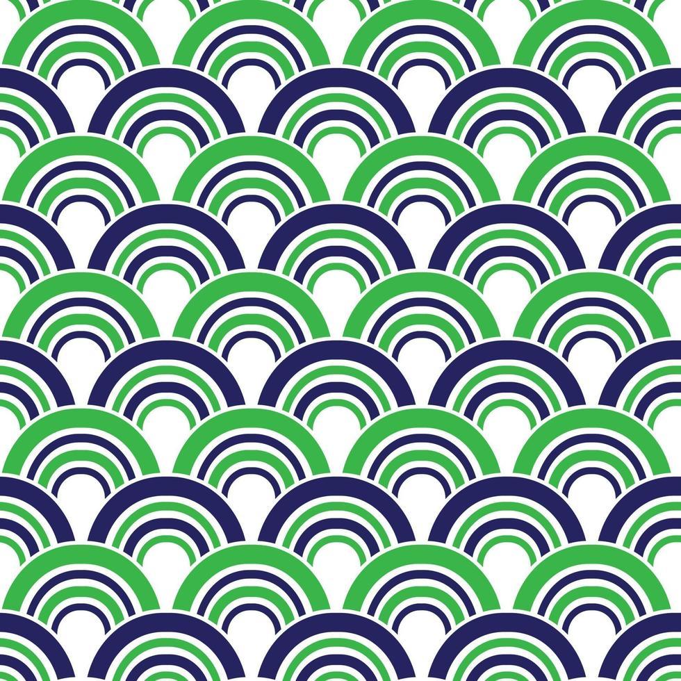 mod azul verde sem costura vieira padrões geométricos vetoriais vetor