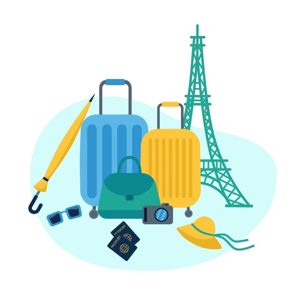 design de férias e viagens vetor