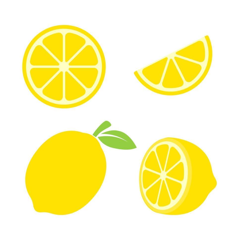 conjunto de limão amarelo vetor