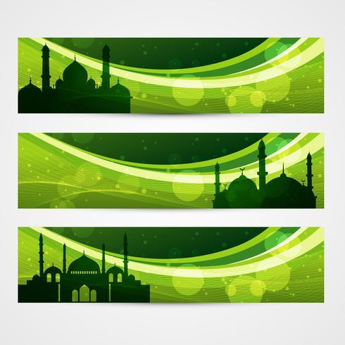 lindos cabeçalhos do Ramadã vetor