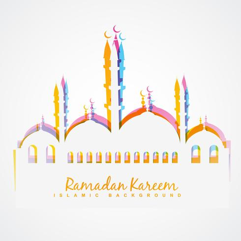 fundo colorido festival islâmico vetor