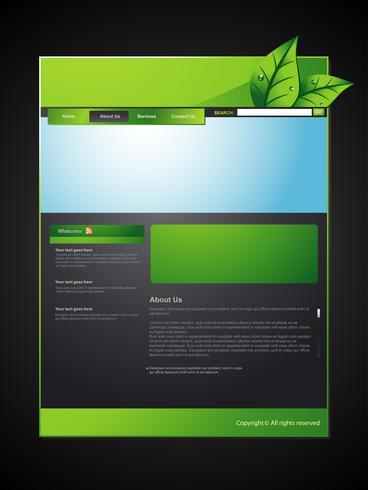 layout ecológico da web vetor
