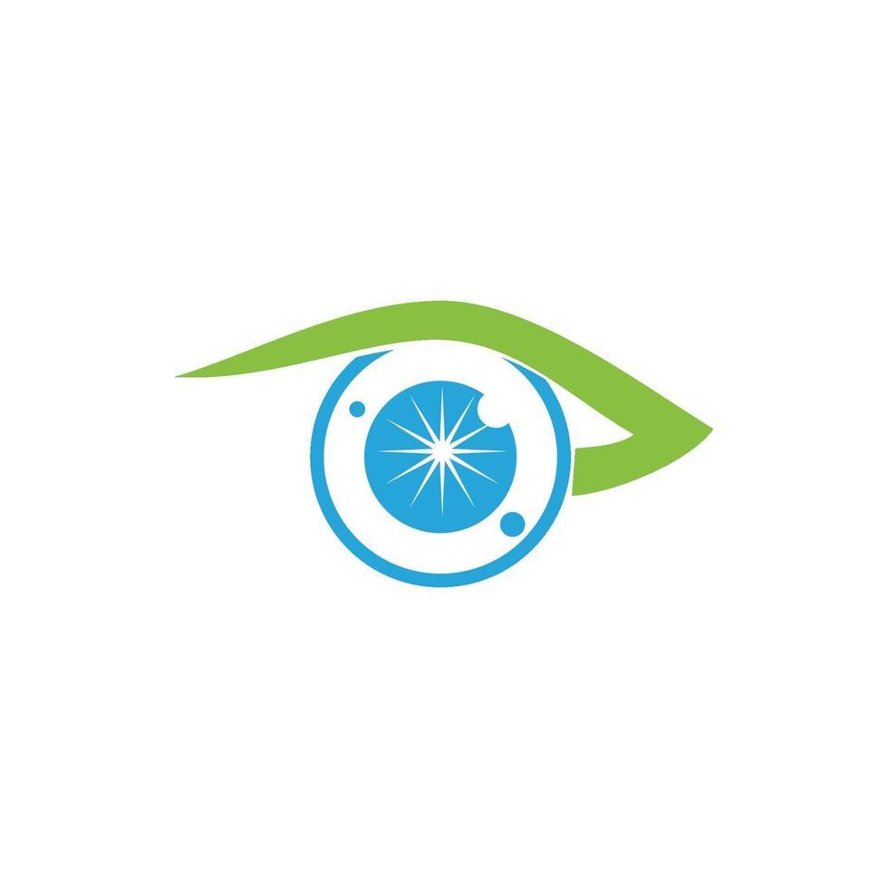 ícone de modelo de design de saúde para cuidados com os olhos vetor