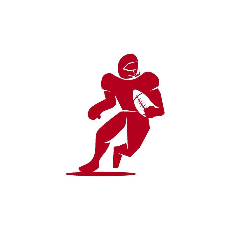 emblema de design de modelo de logotipo de esporte de futebol americano vetor