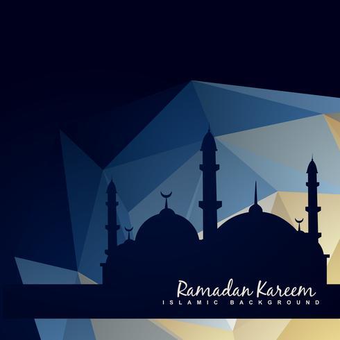 mesquita islâmica com fundo abstrato vetor