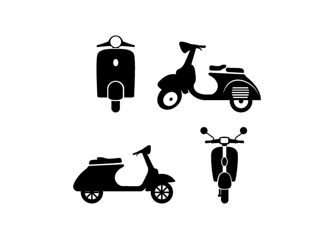modelo de design de ícone de scooter vespa vetor