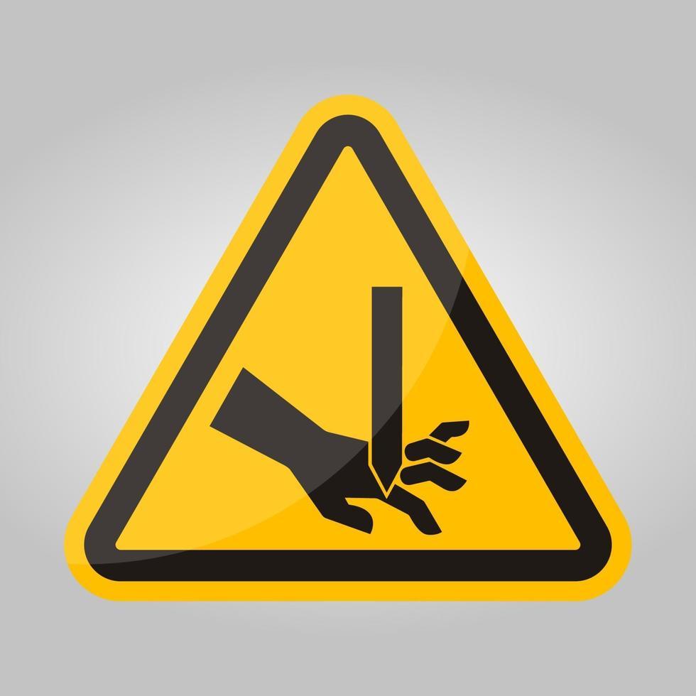corte de dedos, lâmina reta, sinal de símbolo, ilustração vetorial, isolado na etiqueta de fundo branco .eps10 vetor