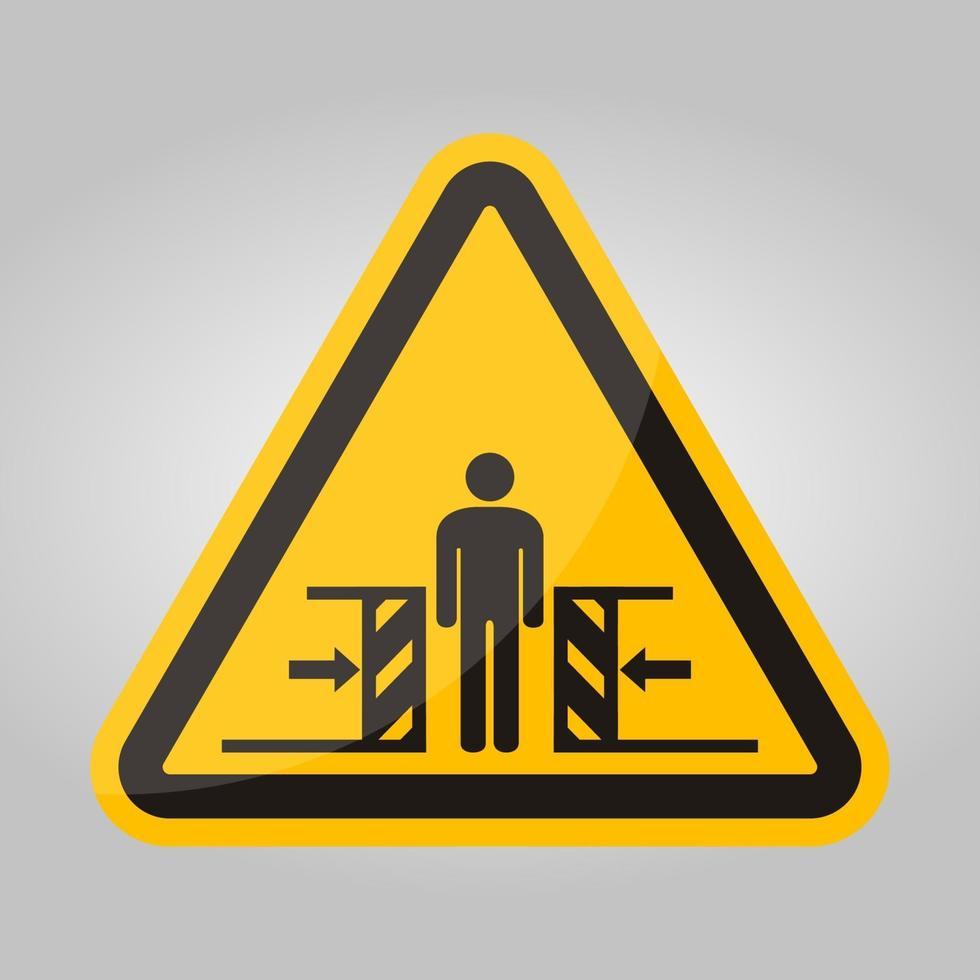 força de esmagamento de corpo de dois lados símbolo sinal, ilustração vetorial, isolado no fundo branco etiqueta .eps10 vetor