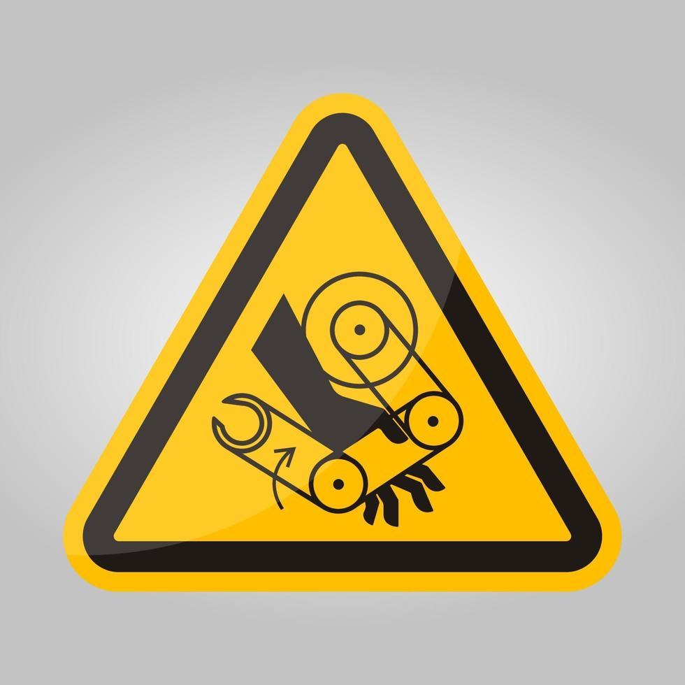 sinal de símbolo de robô de esmagamento de mão isolado no fundo branco, ilustração vetorial eps.10 vetor