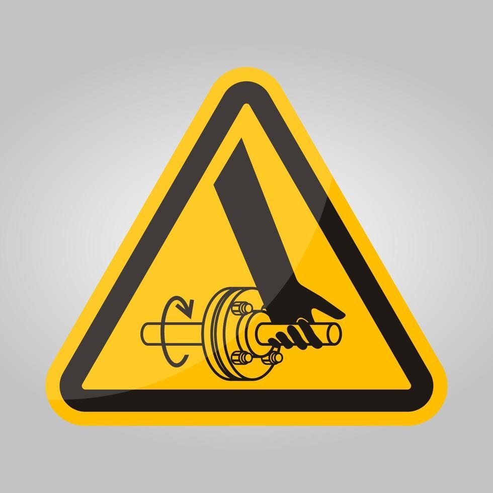 emaranhamento de sinal de símbolo de eixo giratório de mão isolado no fundo branco, ilustração vetorial eps.10 vetor