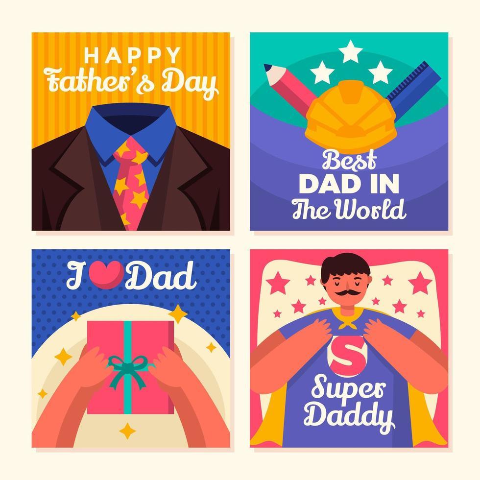 dia de apreciação do super pai vetor