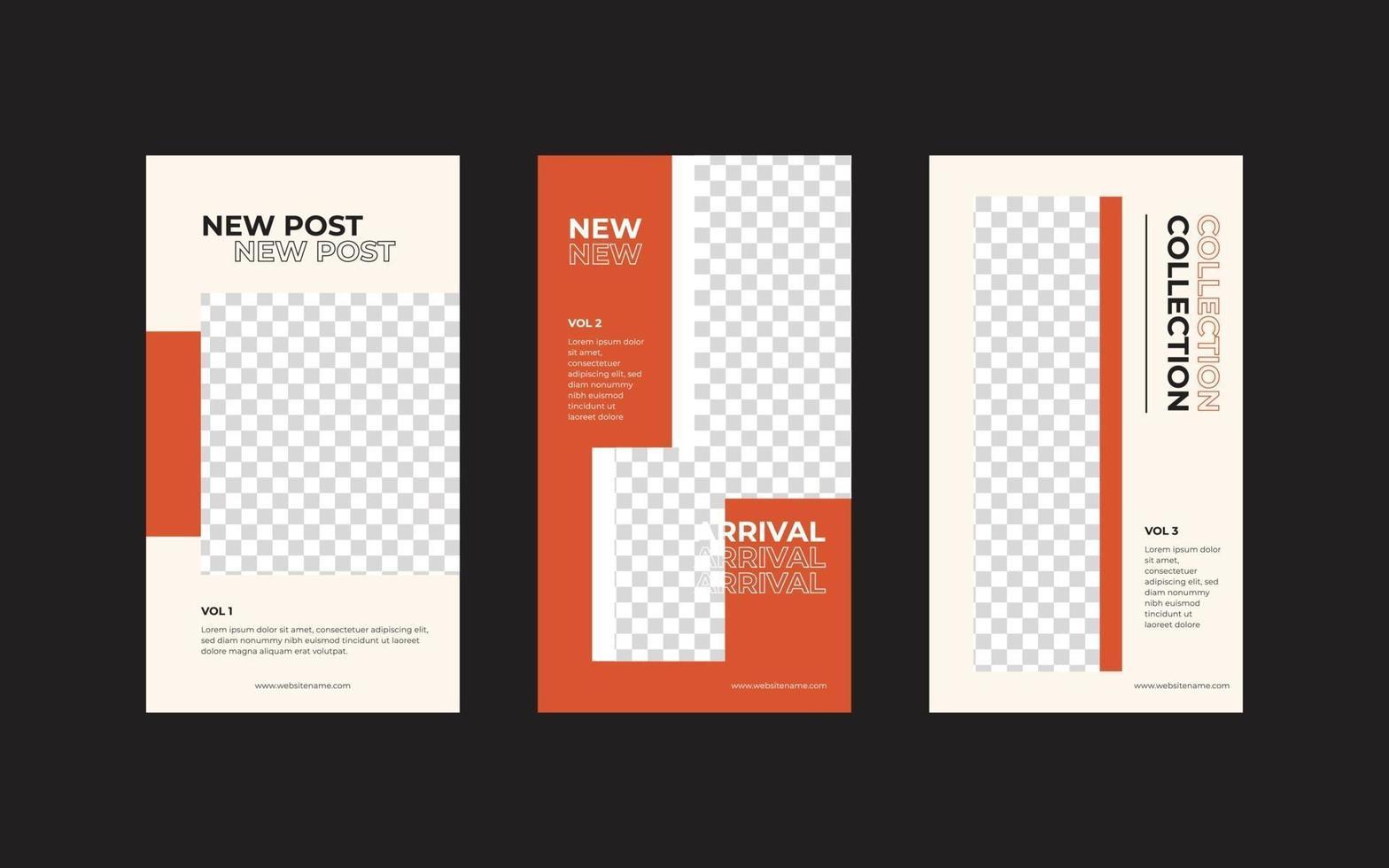modelo de cartaz de feed de mídia social de folheto quadrado vetor
