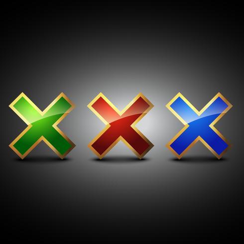 atravessar o ícone do símbolo vector