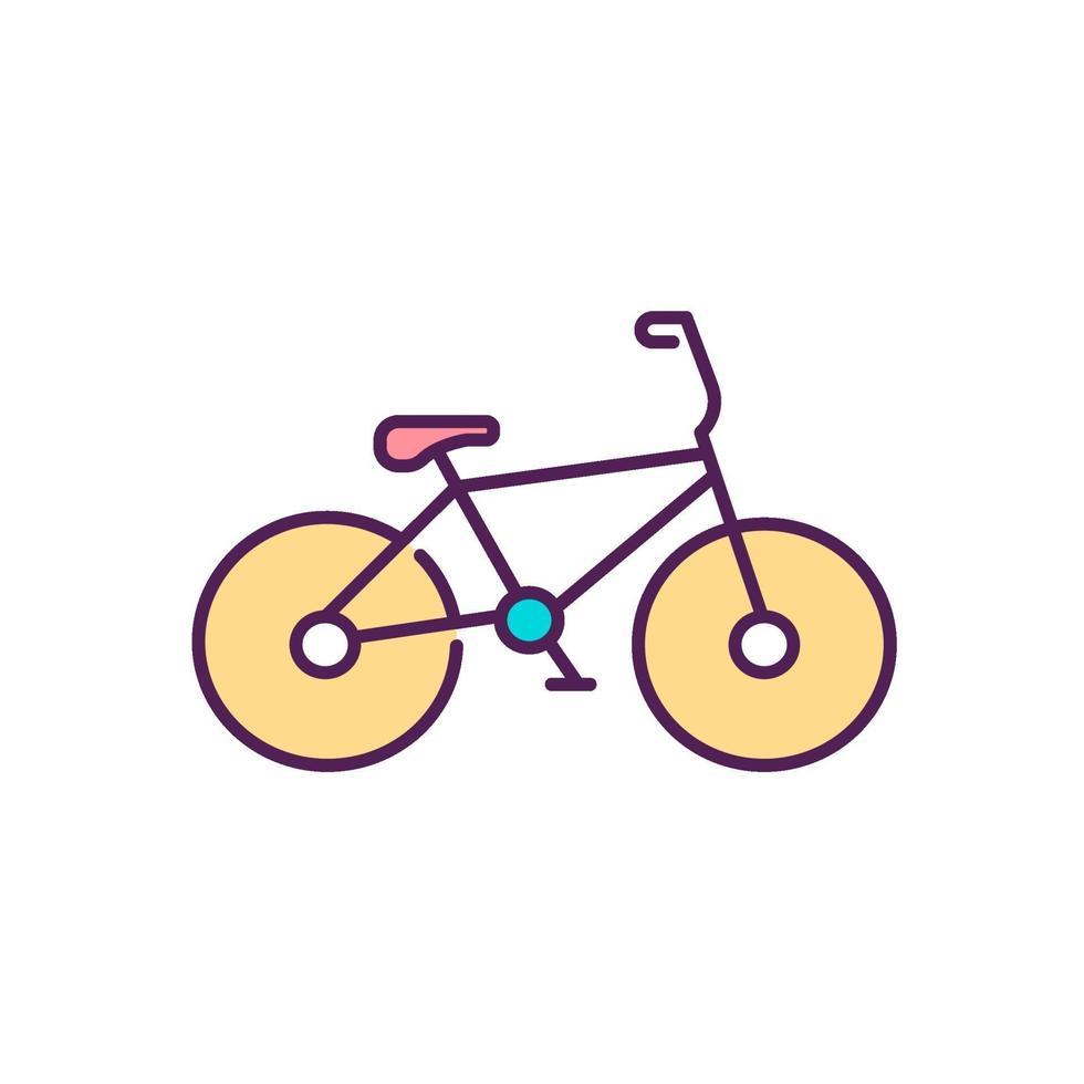 ícone de cor rgb de esporte de bicicleta vetor