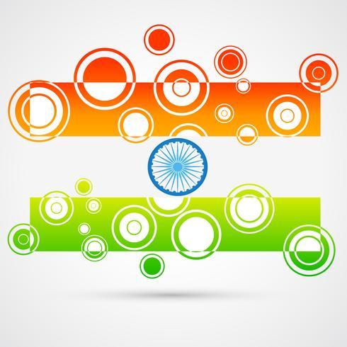bandeira indiana criativa vetor